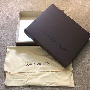 Authentic Louis Vuitton Purse Box and Dustbag